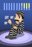 dagar har hur många I fängelset spenderade Arkivbild