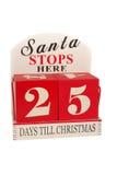 25 dagar till jul Arkivfoton