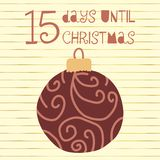 15 dagar till julvektorillustration christmas countdown stock illustrationer