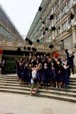 dagavläggande av examen Fotografering för Bildbyråer