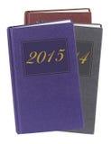 Dagböcker - nytt år, övergående begrepp för tid Arkivbilder