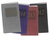 Dagböcker - nytt år eller övergående begrepp för tid Royaltyfri Fotografi
