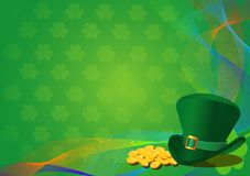 Dagbakgrund för St. Patricks Arkivbilder