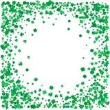 Dagbakgrund för St Patricks med flygväxter av släktet Trifolium Fotografering för Bildbyråer