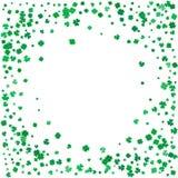 Dagbakgrund för St Patricks med flygväxter av släktet Trifolium Royaltyfri Foto