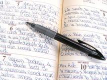 dagbok royaltyfria bilder