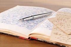 Dagbok Arkivbild