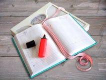 Dagboken som förlorar, väger kvinnor Royaltyfri Fotografi