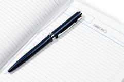 dagbokpenna Fotografering för Bildbyråer
