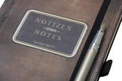 dagbokpenna Arkivfoto