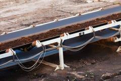 Dagbrotts- brun kolgruva Bältetransportör Fotografering för Bildbyråer