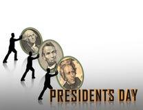 dagdiagrampresidenter stock illustrationer