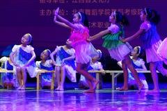 Dagdrömma den stjärnklara akademin för himmelPekingdansen som graderar för barn` s för provet den utstående utställningen Jiangxi Arkivfoton