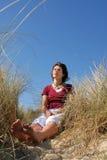 dagdrömma flicka Fotografering för Bildbyråer
