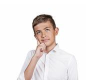 Dagdrömma tonåringpojken fotografering för bildbyråer