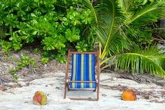 Dagdrivaren på den tropiska sandstranden Royaltyfri Foto