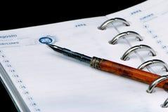 Dagelijks logboek royalty-vrije stock afbeeldingen