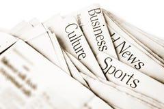 Dagelijks Nieuws stock fotografie