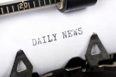 Dagelijks Nieuws stock foto