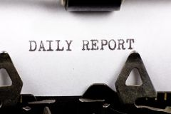 Dagelijks Rapport royalty-vrije stock foto's