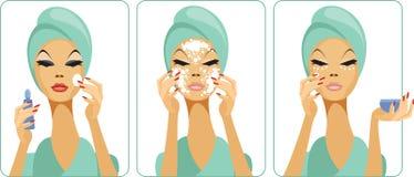 Dagelijks skincare vector illustratie
