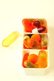 Dagelijkse dosering van pillen Stock Foto's