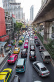 Dagelijkse opstopping in Bangkok Royalty-vrije Stock Afbeeldingen