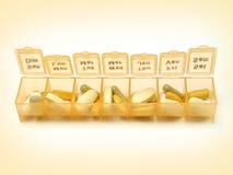 Dagelijkse Pillen 5 Royalty-vrije Stock Fotografie