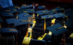 Dagen av avläggandet av examen, min studentbaldag arkivfoto