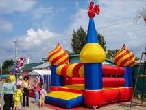 Dagen av byn i den Kaluga regionen av Ryssland Fotografering för Bildbyråer