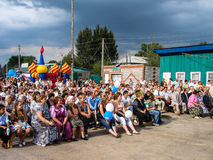 Dagen av byn i den Kaluga regionen av Ryssland Royaltyfria Bilder
