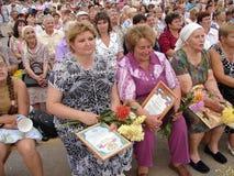 Dagen av byn i den Kaluga regionen av Ryssland Arkivbilder