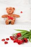 dagen blommar valentiner Royaltyfria Foton