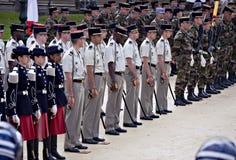 dagen Europa france montpellier ståtar seger Royaltyfri Bild