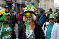 Sanktt Patricks dag i Bucharest 6 Fotografering för Bildbyråer