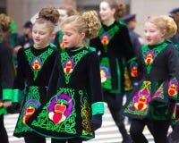Dagen för St. Patricks ståtar NYC Royaltyfria Foton
