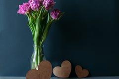 Dagen för valentin` s blommar dag för kvinna` s Royaltyfria Foton