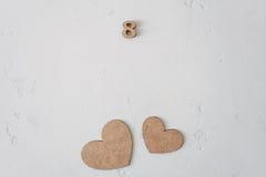 Dagen för valentin` s blommar dag för kvinna` s Arkivbilder