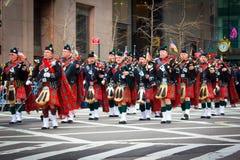 Dagen för St. Patricks ståtar NYC Fotografering för Bildbyråer