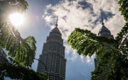 Dagen i KLCC, Kuala Lumpur, Malaysia Royaltyfria Foton