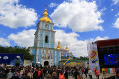 Dagen van het festival van Europa in Kiev, de Oekraïne Royalty-vrije Stock Afbeelding