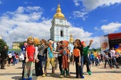 Dagen van het festival van Europa in Kiev, de Oekraïne Royalty-vrije Stock Foto