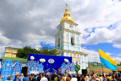 Dagen van het festival van Europa in Kiev, de Oekraïne Royalty-vrije Stock Afbeeldingen