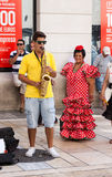 Dagen van viering en partij in Malaga Andalusia Spanje Stock Foto