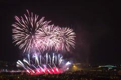 Dagen van vuurwerk in Zagreb royalty-vrije stock fotografie