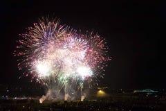 Dagen van vuurwerk in Zagreb royalty-vrije stock foto