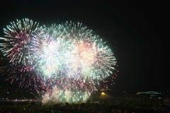 Dagen van vuurwerk in Zagreb stock foto's