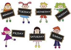 Dagen van week Stock Fotografie