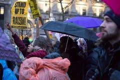 100 dagen van woede-2017 anti-Troefprotesten Stock Fotografie