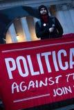 100 dagen van woede-2017 anti-Troefprotesten Stock Afbeelding
